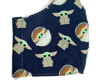 Baby Yoda fabric face mask