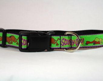 Scooby Doo inspired dog collar, Cartoon dog collar, nylon collar, pet gift, dog accessory, Bozies Bags