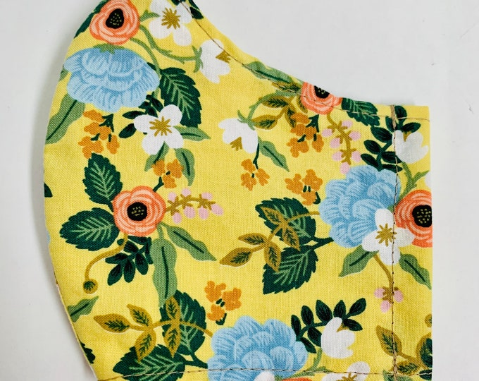 Featured listing image: Yellow floral face mask