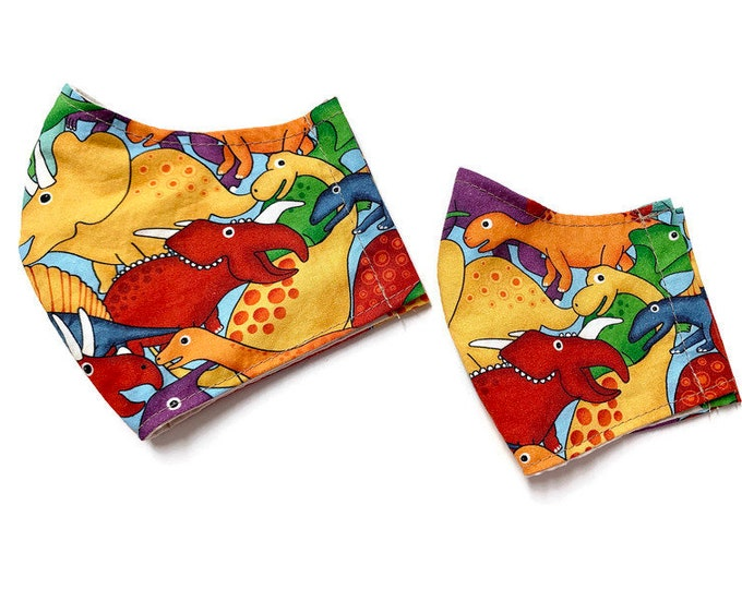 Featured listing image: Child or toddler sized dinosaur face mask