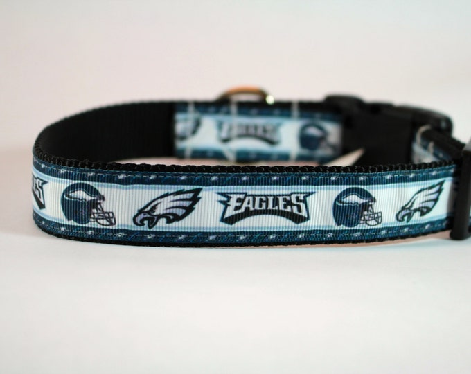 Eagles football team inspired dog collar,  Philadelphia Eagles dog collar, nylon webbing collar, pet gift, dog accessory, Bozies Bags