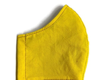 Cotton face mask with filter pocket and nose wire