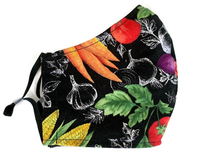 Featured listing image: Cotton face mask for adult with veggie fabric