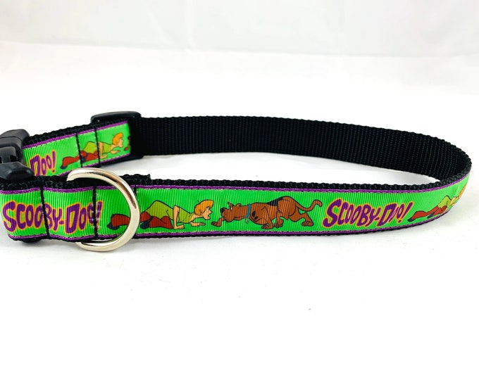 Scooby Doo inspired dog collar, Cartoon dog collar, nylon collar, pet gift, dog accessory, Bozies Bags