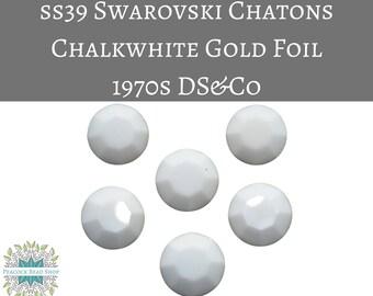 6) SS39 Vintage Swarovski #1100 Chatons_Chalkwhite Gold Foil_DS&Co