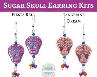 KIT_Sugar Skull Earrings_with Swarovski Crystal