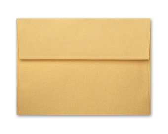 A2 Envelopes - Stardream Metallic Gold with Square Flap FREE SHIPPING