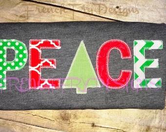 Peace Christmas Applique TShirt