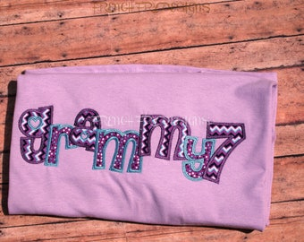Grammy applique Sweatshirt for Grandmother Customized and Personalized with Number of Grandkids Names