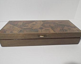Mens' Wooden Fashion Jewelry Box