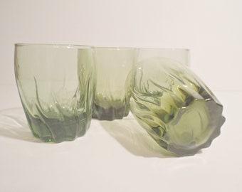 4 Green Drinking Glasses