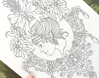PDF  coloring page, Royal elf, 1 page
