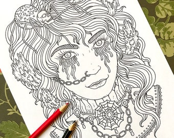 PDF coloring page, Halloween, 1 page