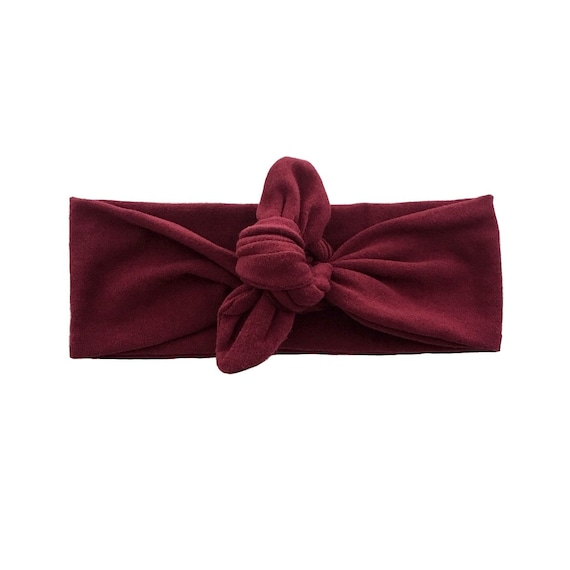Burgundy headband one size