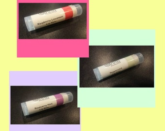 3 for 10 lip balms, small batch, local gift, natural product 0.15 oz - Handcrafted in Pittsburgh