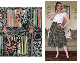 1940s Green Gardens Skirt