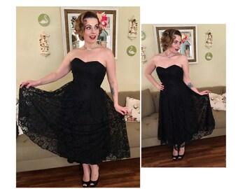 Black lace cocktail dess M