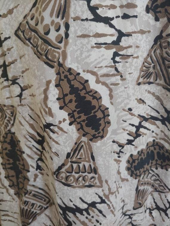 SeaShell 50s tiki novelty print dress - image 9