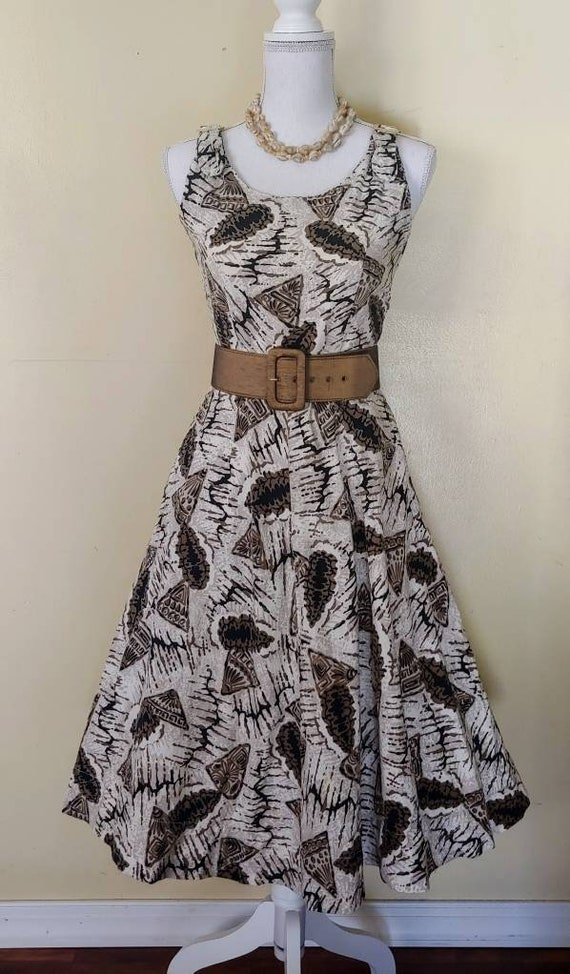 SeaShell 50s tiki novelty print dress - image 2