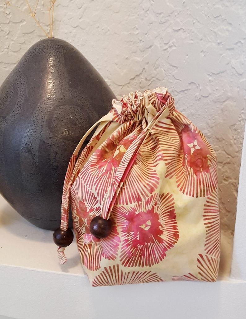 Batik Drawstring Bag \u2013 Red Hues