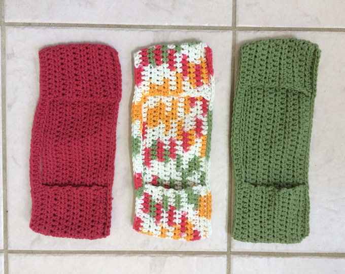 Reusable Spray Mop Pad, Reusable Pads, Mop Cover, Crochet Map Cover, Reusable Mop Pad, Crochet Mop Cover, Set of 3