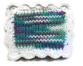 Scrubby / Pot Scrubber / Dish scrubbie / Dish Cloth / Sponge / Nylon Scrubbie / Scrubber / Water Lilies