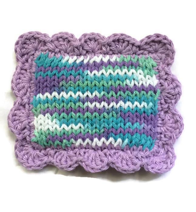 Knitted Scrubby Pot Scrubber Dish Scrubbie Dish Cloth Sponge