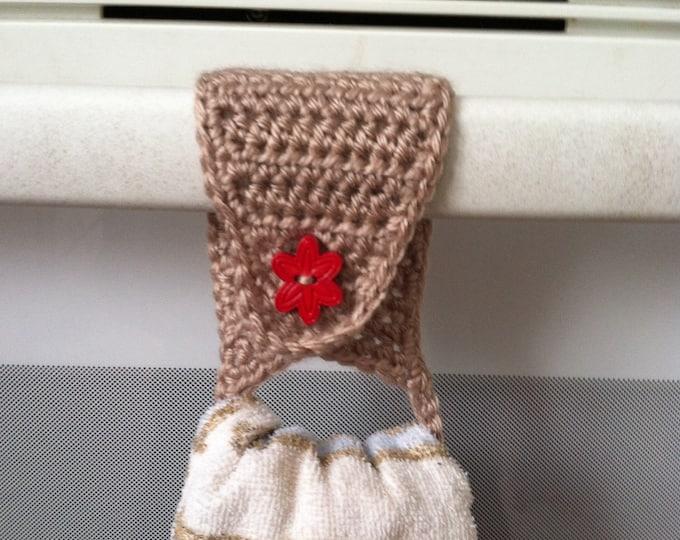 Towel Holder / Towel Topper / Towel Ring / Kitchen Towel Holder / Crochet Towel Holder