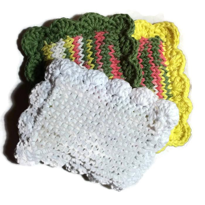 Knitted Sponge Knitted Dishcloth Fruit Bowl Scrubby Pot