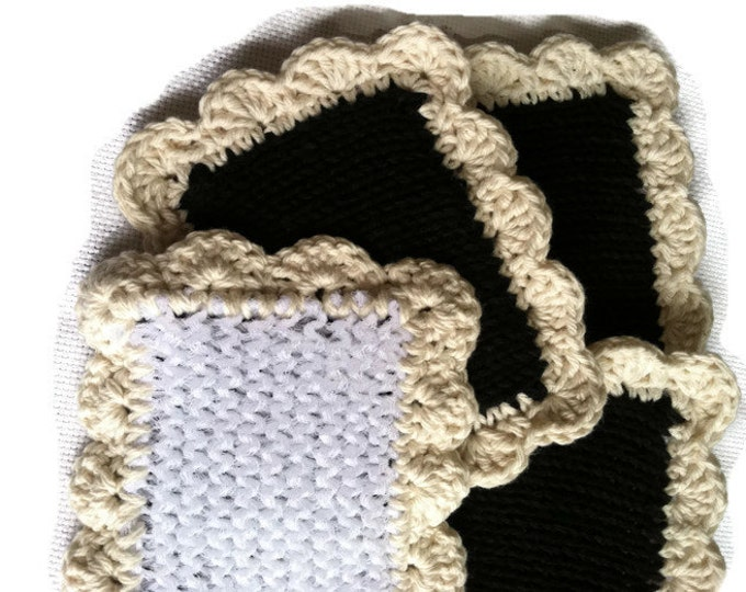 Dishcloth / Knit Dishcloth/ Pot Scrubber / Knitted Dish Scrubbies /  Knit Dish Cloth / Sponge / Nylon Scrubbies / Scrubber