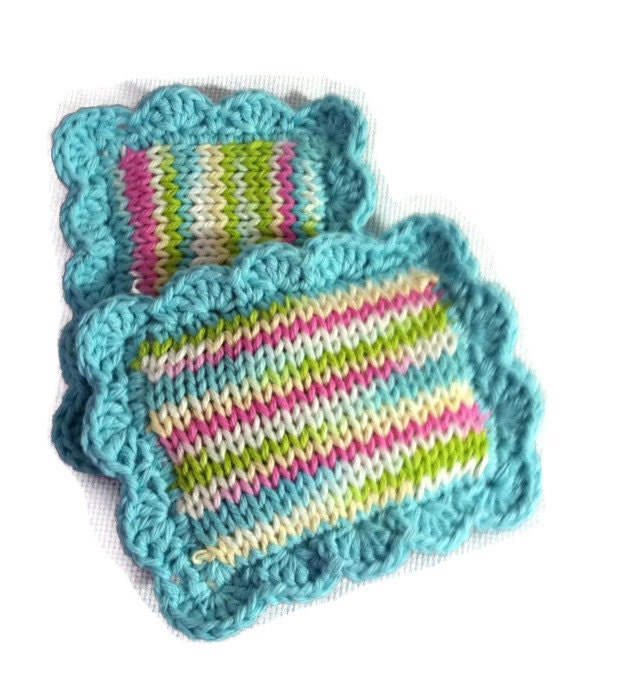 Knitted Scrubby / Knit Pot Scrubber / Knit Dish Scrubbies ...