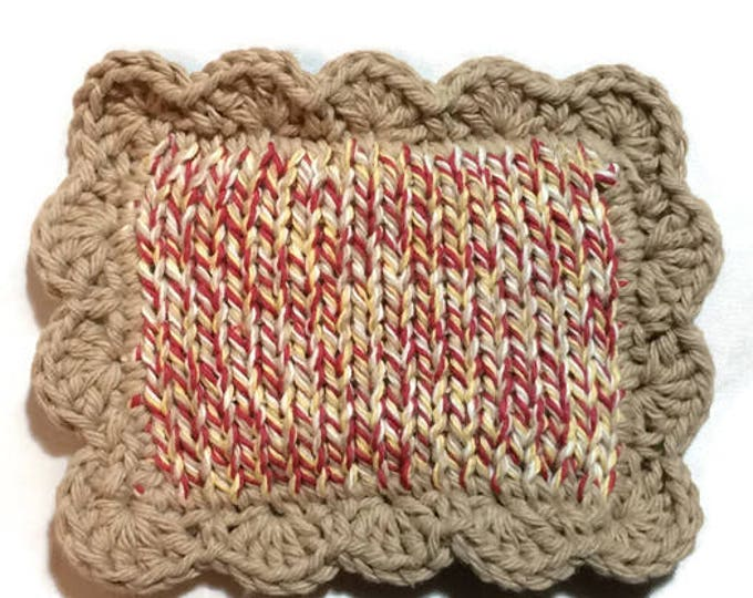 Knit Dishcloth / Knitted Scrubbies / Pot Scrubber / Dish Scrubbies / Dish Cloth / Sponge / Nylon Scrubbies / Scrubber / Barnboard Twists