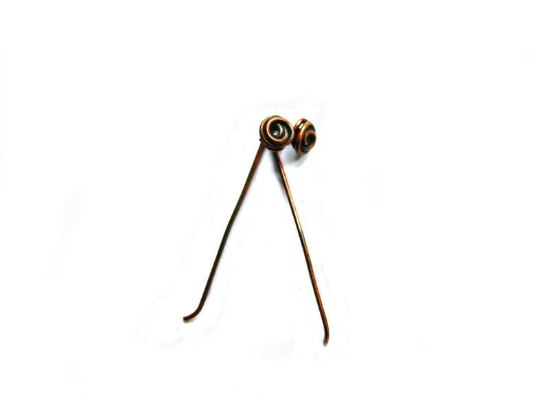 Copper Stud Earrings ~ Minimalist earrings ~ Rose Earrings