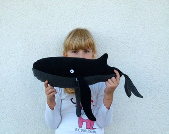 Whale plush - handmade fabric doll