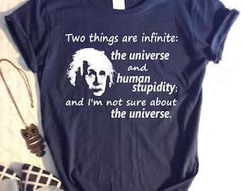 Womens TShirt with Einstein Saying