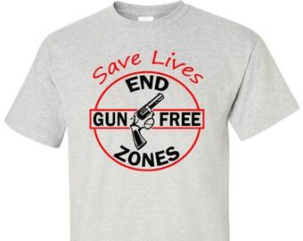 End Gun Free Zones T-Shirt