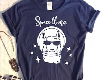 Space Llama Womens TShirt
