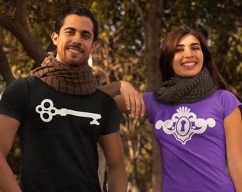 Funny Couples TShirt Key and Keyhole