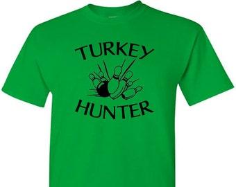 Turkey Hunter Bowling T-Shirt