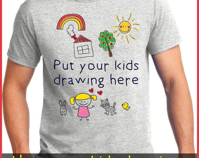 Featured listing image: Print Your Kids Art Drawing on a TShirt