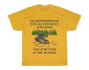 Funny Kayaking Social Distance TShirt