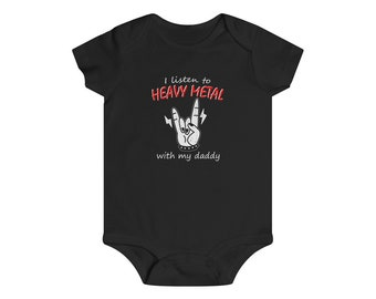 Heavy Metal with Daddy Baby Infant Tee One Piece