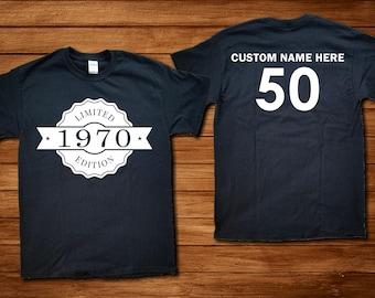 Custom 50th Birthday 1970 TShirt