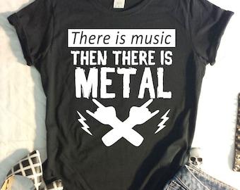 Ladies TShirt Heavy Metal Saying