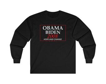 Obama Biden 2008 Election Campaign Long Sleeve Tee