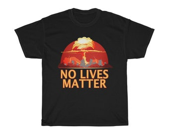 Nuclear Blast Mushroom Cloud No Lives Matter