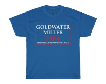 Goldwater Miller 1964 Election Campaign TShirt