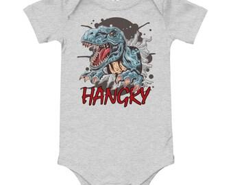 Hangry Dinosaur Bella Canvas One Piece Bodysuit Infant Clothing T-Shirt