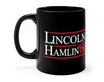 1860 Abe Lincoln President Election Campaign Black mug 11oz