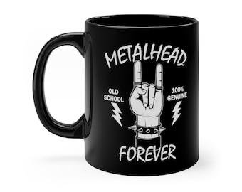 Heavy Metal Saying Metalhead Forever Black mug 11oz